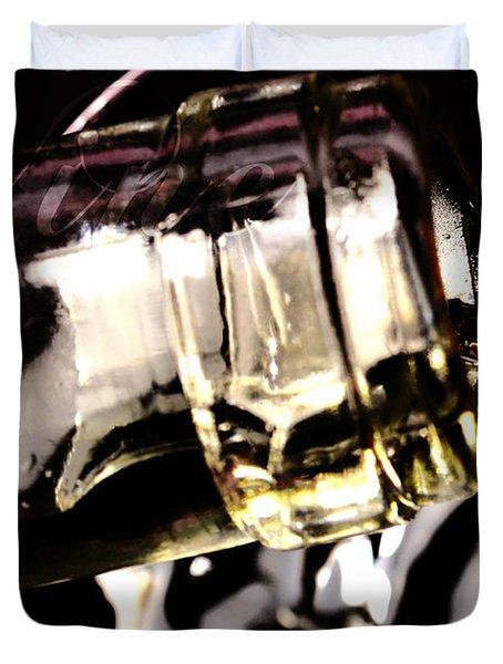 Pooring White Wine Duvet Cover by Tommytechno Sweden