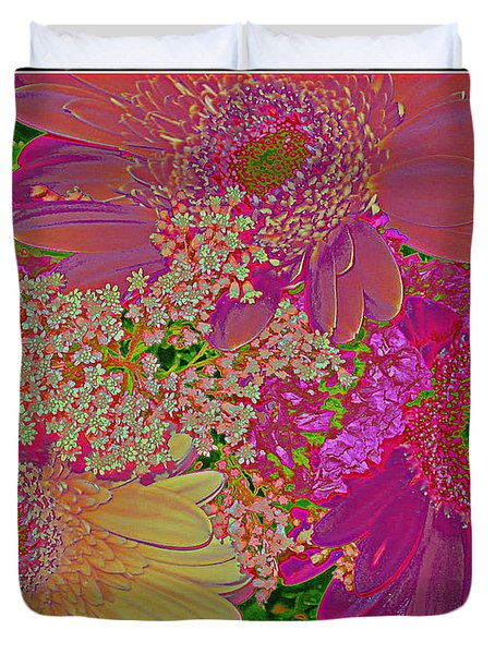 Pop Art Daisies Duvet Cover by Dora Sofia Caputo Photographic Art and Design