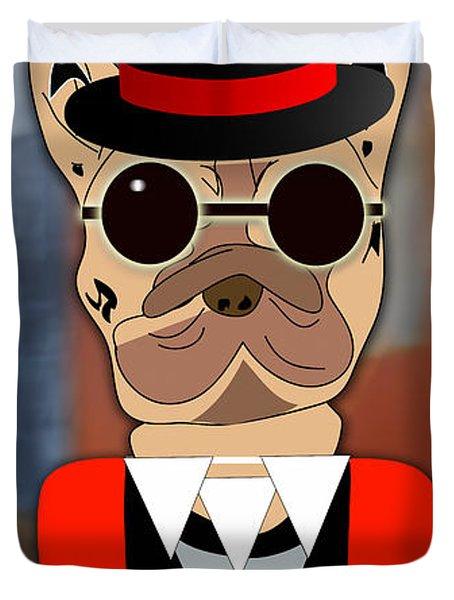 Pop Art French Bulldog Duvet Cover by Marvin Blaine