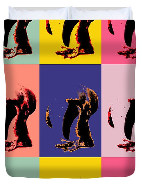 Pop Art Penguin  Duvet Cover