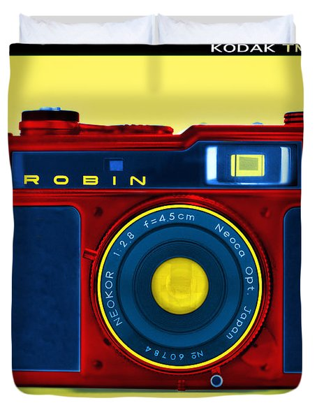 Pop Art Robin Duvet Cover by Mike McGlothlen