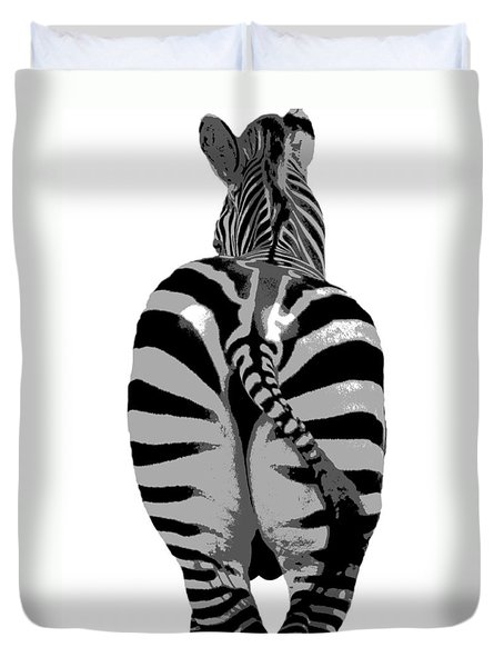 Duvet Cover featuring the photograph Pop Art Zebra by Kenny Francis