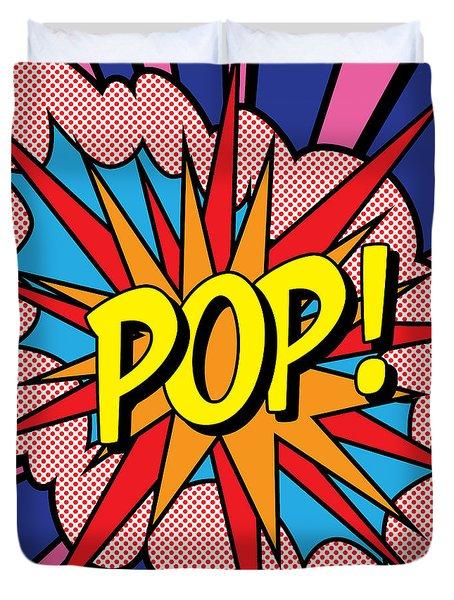 Pop Exclamation Duvet Cover