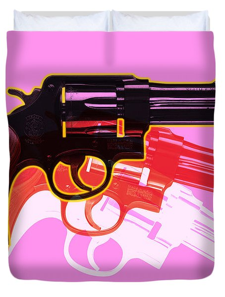 Pop Handgun Duvet Cover