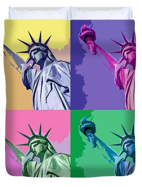 Pop Liberty Duvet Cover