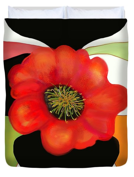 Pop Poppy Duvet Cover