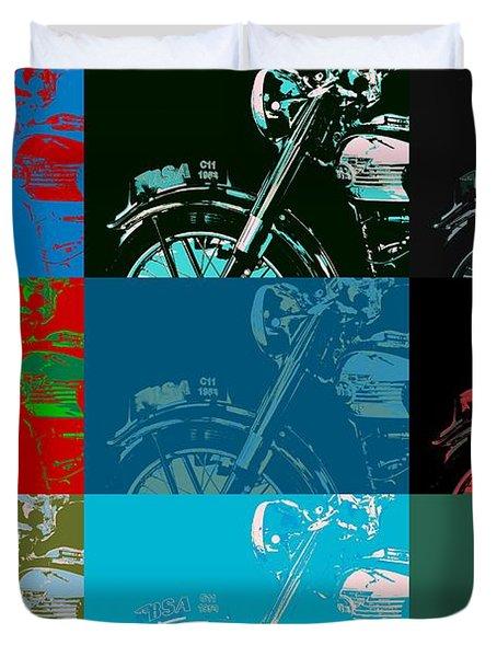 Popart Motorbike Duvet Cover