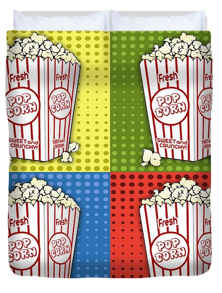 Popcorn Pop Art-jp2375 Duvet Cover