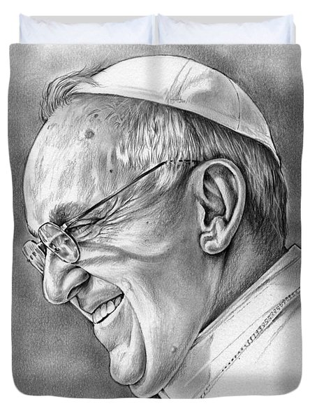 Pope Francis Duvet Cover by Greg Joens