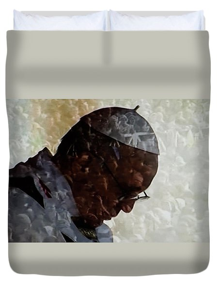 Pope Francis Inauguration Vatican 19 February 2013  Duvet Cover
