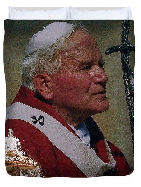 Pope John Paul I I Duvet Cover