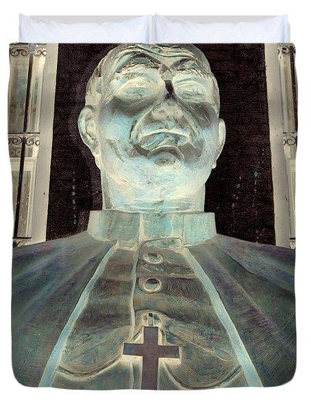 Pope John Paul The Second Duvet Cover by Ed Weidman