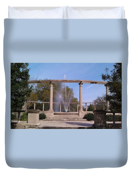Popp Fountain New Orleans City Park Duvet Cover