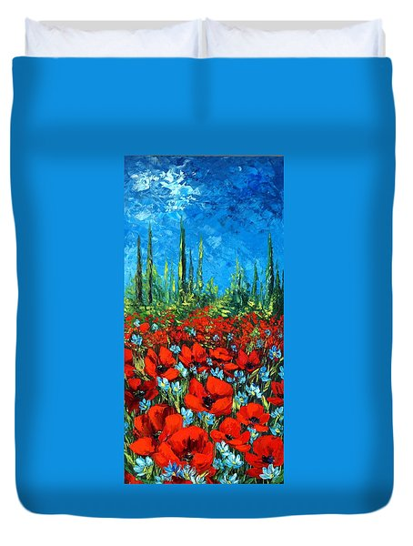 Poppie Field Duvet Cover