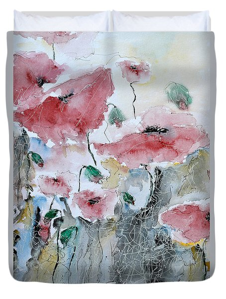 Poppies 01 Duvet Cover
