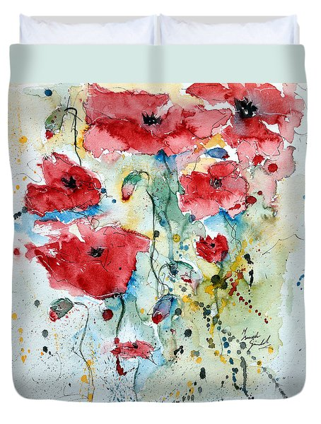 Poppies 04 Duvet Cover