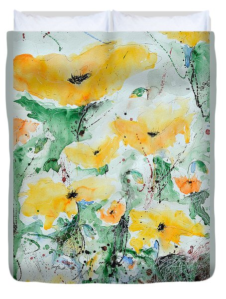 Poppies 07 Duvet Cover