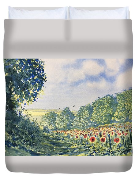 Poppies A'plenty Duvet Cover
