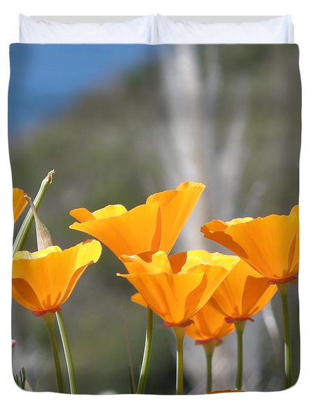 Poppies Duvet Cover by Bev Conover