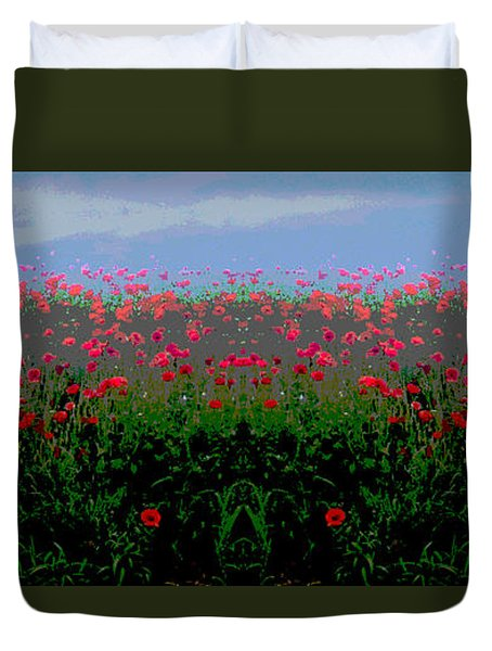 Poppies Field Duvet Cover
