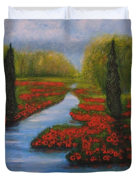 Poppies Guards Duvet Cover by Elena  Constantinescu