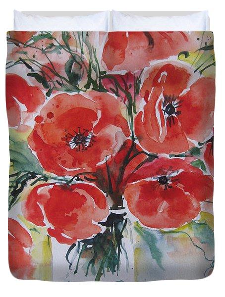 Poppies Iv Duvet Cover