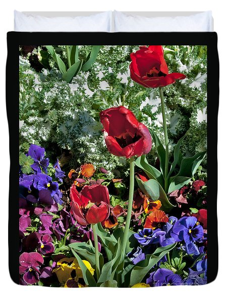 Duvet Cover featuring the photograph Poppies by Mae Wertz