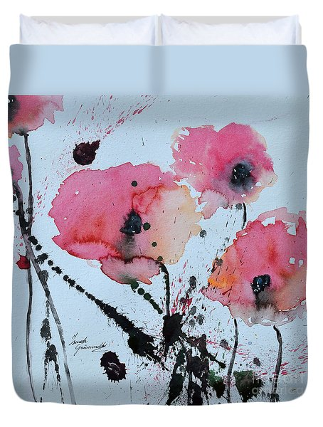 Poppies- Painting Duvet Cover