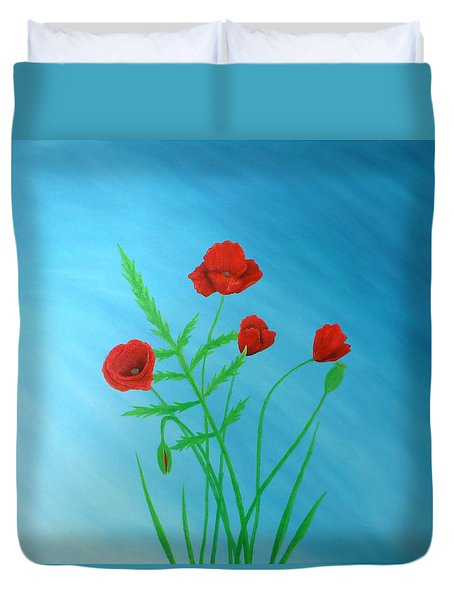 Poppies Duvet Cover by Sven Fischer