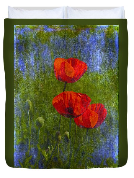 Poppies Duvet Cover by Veikko Suikkanen