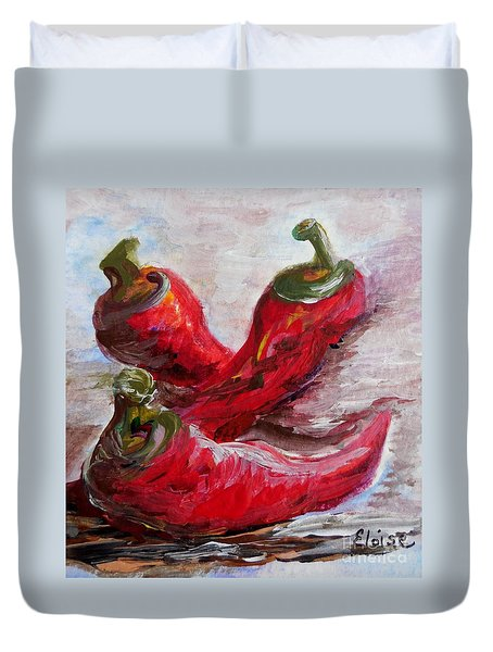 Poppin' Peppers Duvet Cover