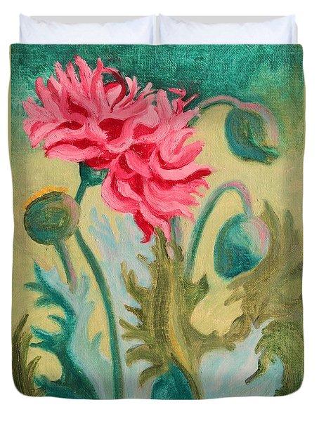 Poppy Abstract Duvet Cover