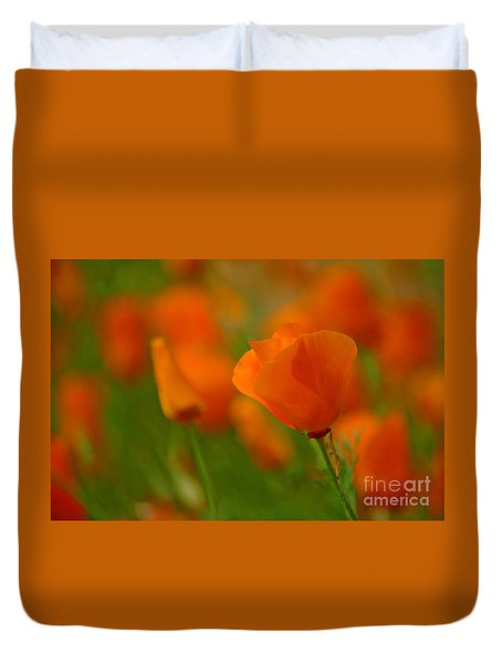 Duvet Cover featuring the photograph Poppy Art by Nick  Boren