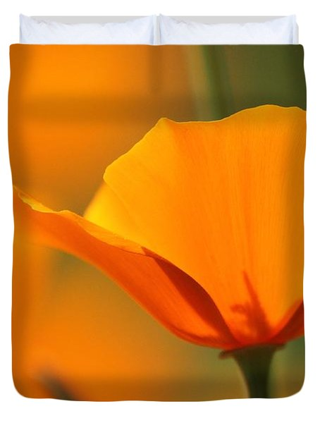 Poppy Bliss  Duvet Cover by Amy Gallagher