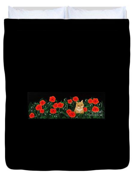 Poppy Cat Duvet Cover