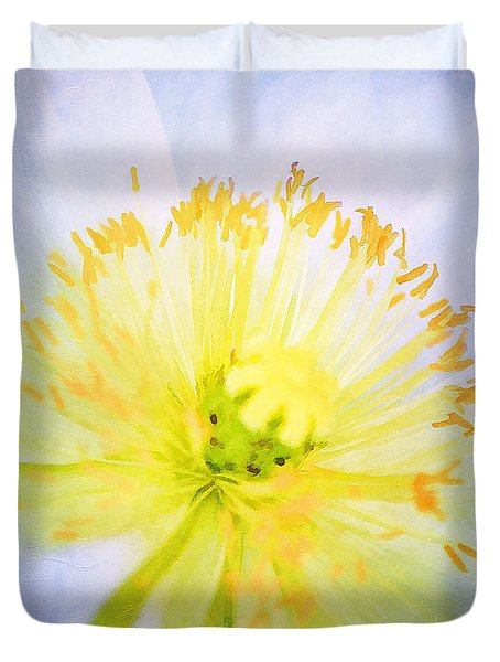 Poppy Close Up Duvet Cover by Darren Fisher