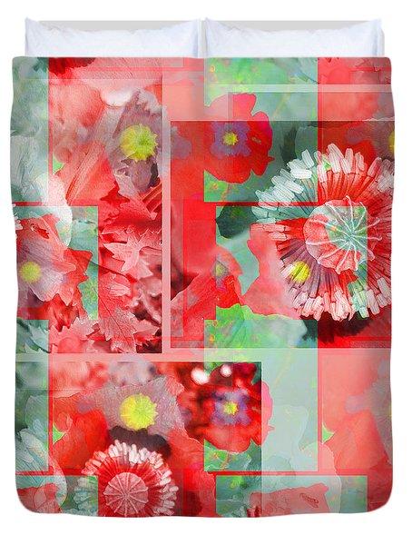 Poppy Collage Duvet Cover