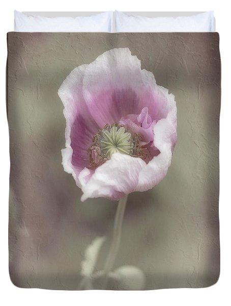 Duvet Cover featuring the photograph Poppy by Elaine Teague
