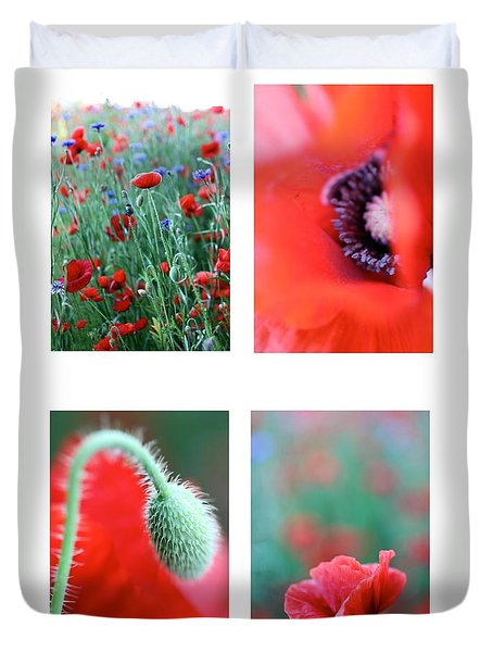 Poppy Field 1 Duvet Cover by AR Annahita