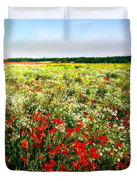 Poppy Field In Summer Duvet Cover