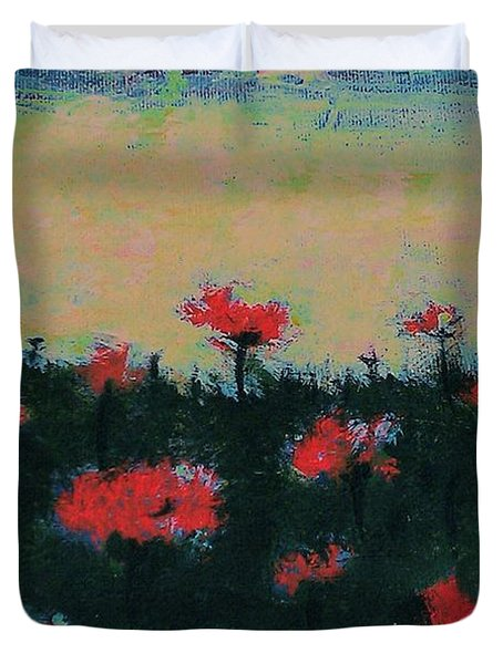 Poppy Field Duvet Cover by Jacqueline McReynolds