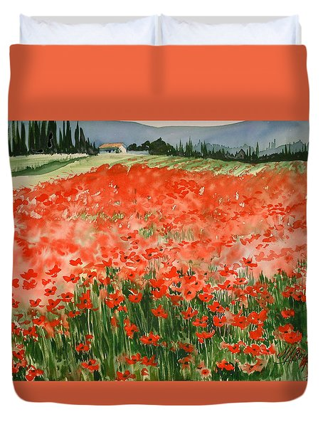 Poppy Field Duvet Cover