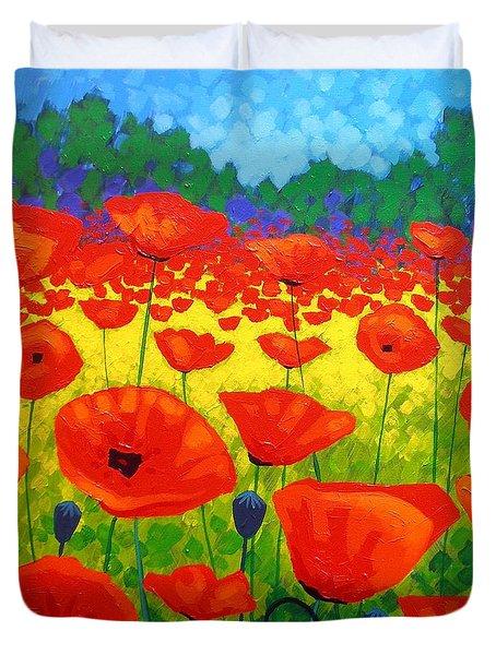 Poppy Field V Duvet Cover