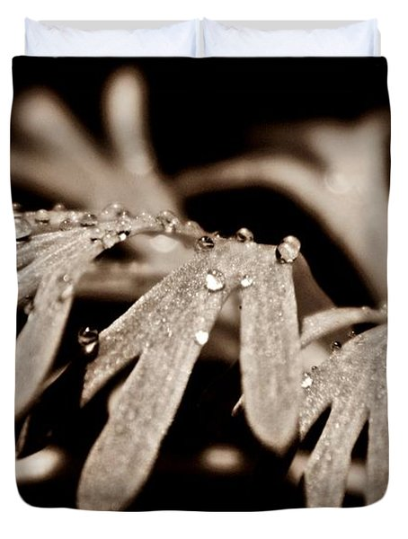 Poppy Foliage Duvet Cover by Chris Berry