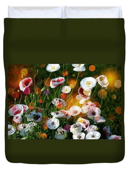 Poppy Gala Duvet Cover by Shirley Sirois