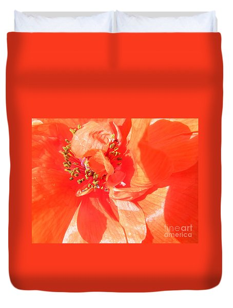Duvet Cover featuring the photograph Poppy Palette In Red by Brian Boyle
