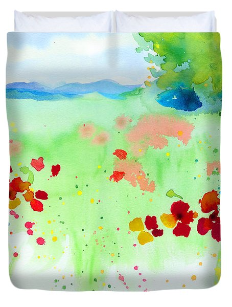 Poppy Passion Duvet Cover by C Sitton