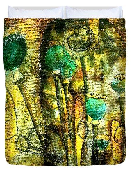 Poppy Pods Duvet Cover by Bellesouth Studio