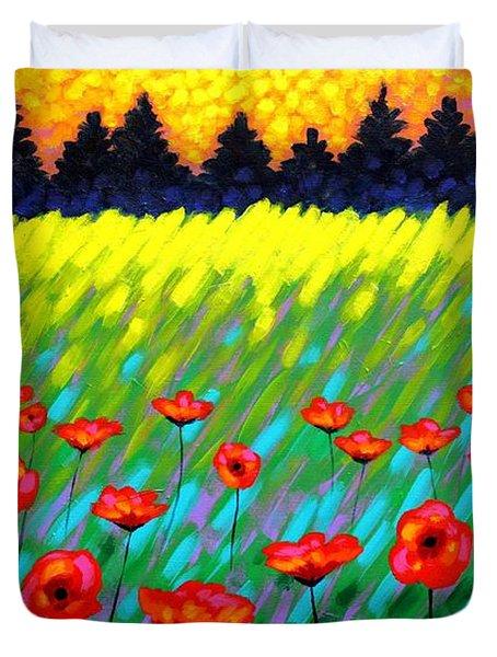 Poppy Scape Duvet Cover by John  Nolan
