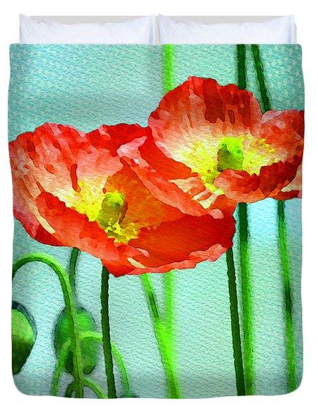 Poppy Series - Quite Duvet Cover by Moon Stumpp
